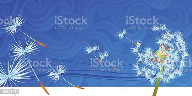Dandelion Seeds Blowing Away In The Wind-vektorgrafik och fler bilder på Abstrakt