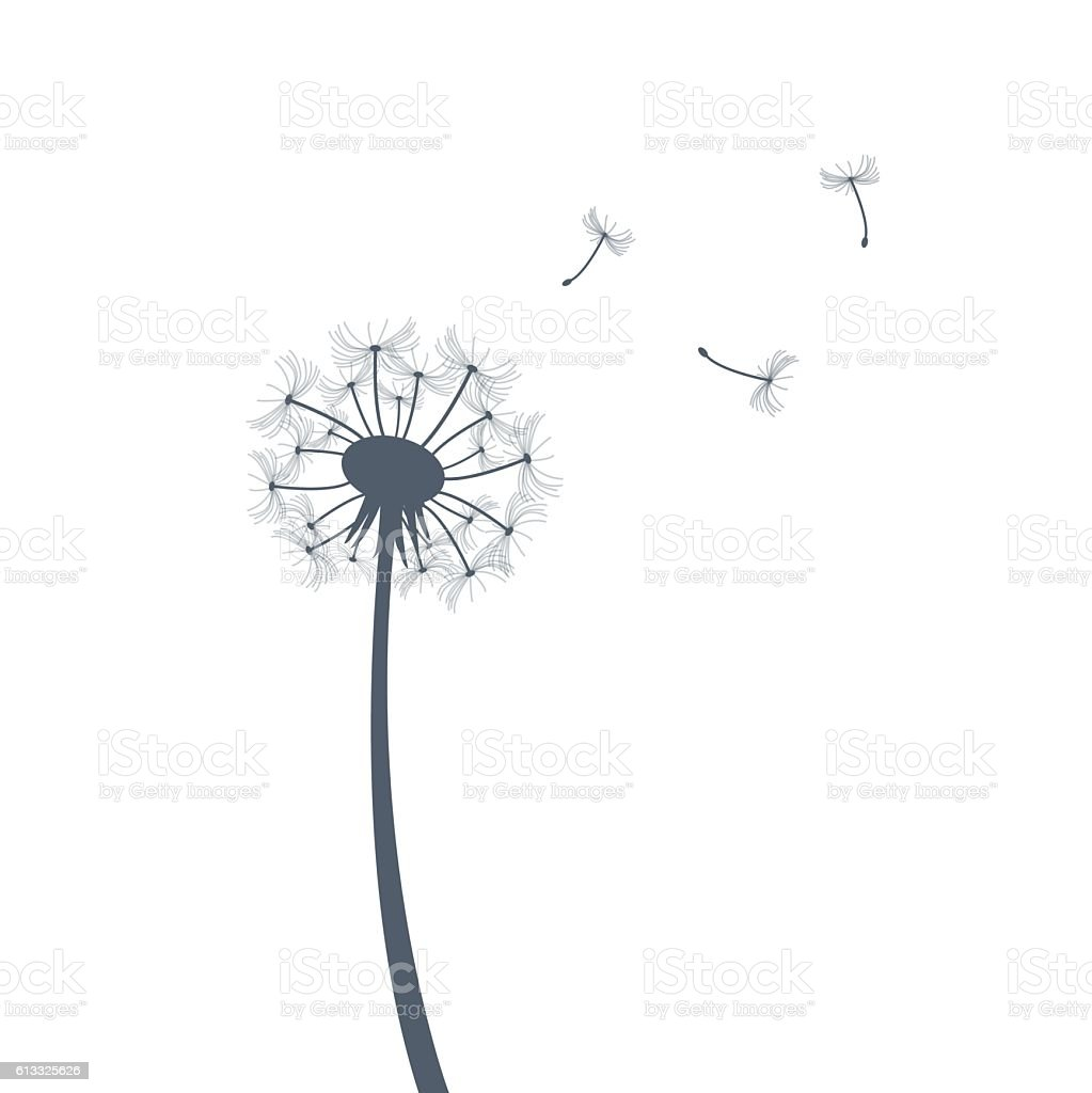 royalty free dandelion seed clip art vector images illustrations rh istockphoto com free blowing dandelion clipart dandelion clip art black and white free