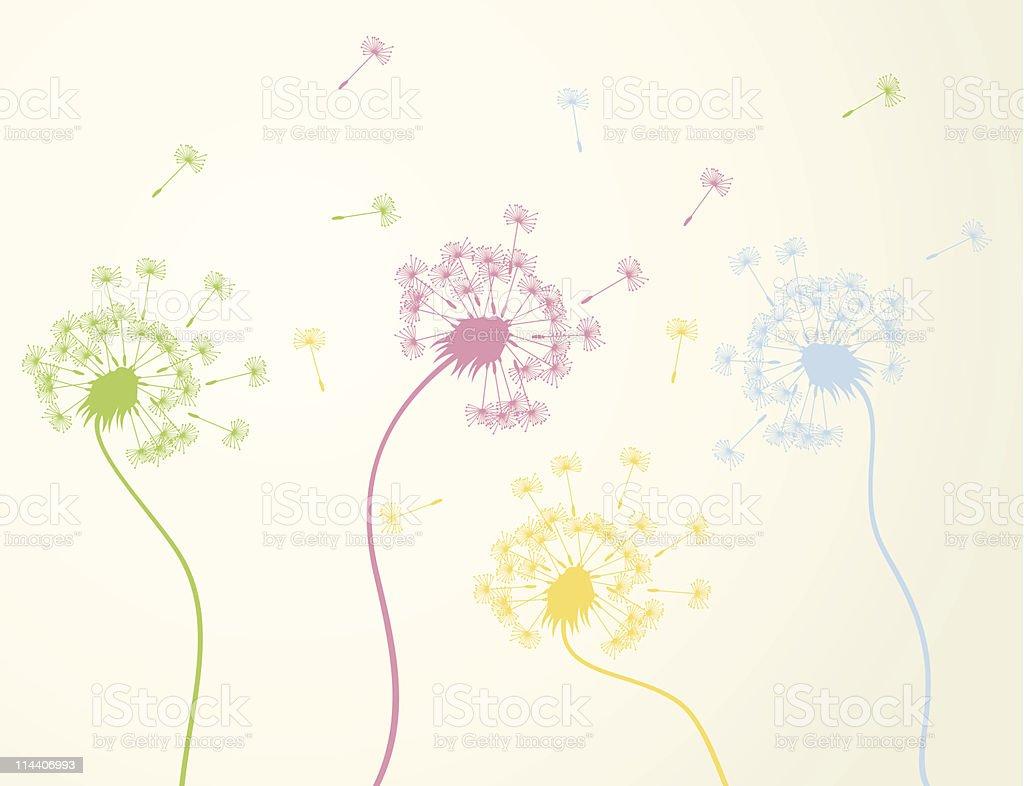 Dandelion3 royalty-free dandelion3 stock vector art & more images of art