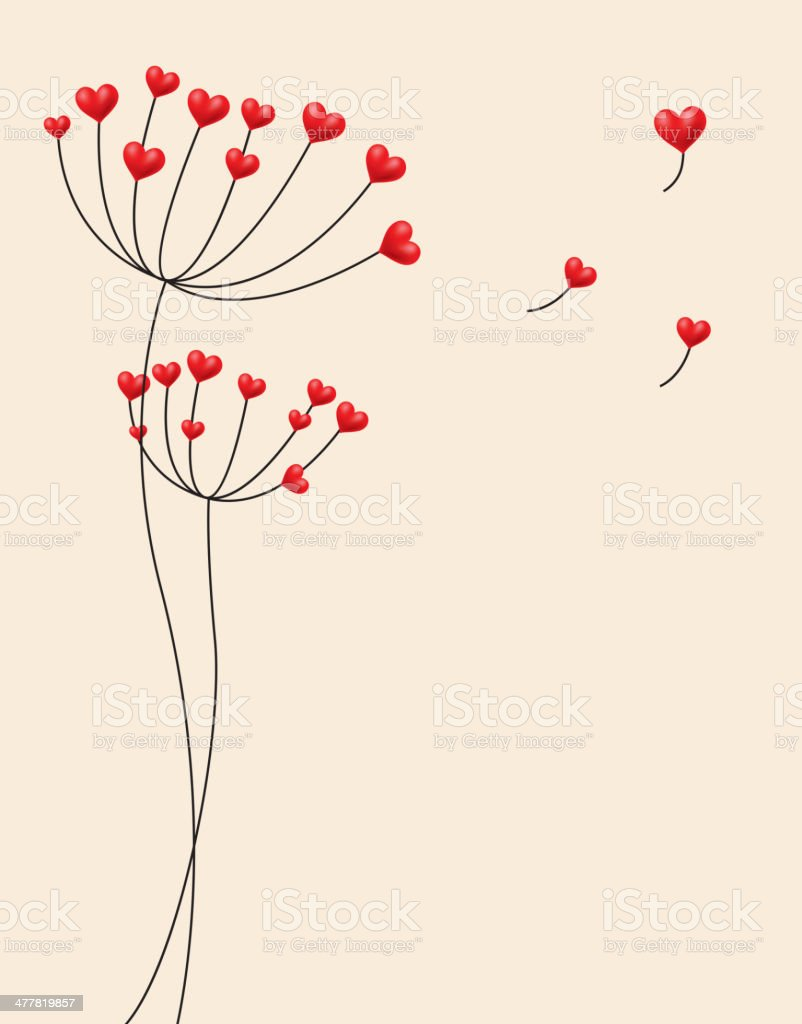 Dandelion's seeds are red heart royalty-free dandelions seeds are red heart stock vector art & more images of abstract