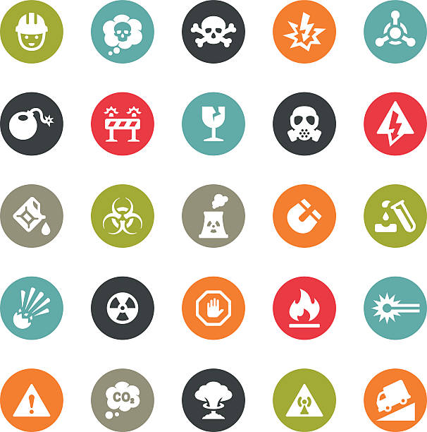 Danger and Destruction icons / Ringico series Ringico series / Set #31 - Danger and Destruction icons. poisonous stock illustrations