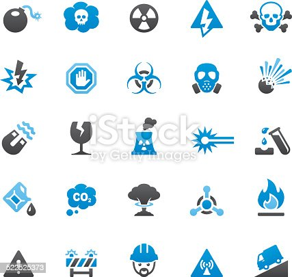 Quartico vector icons - Danger and Warning Sign