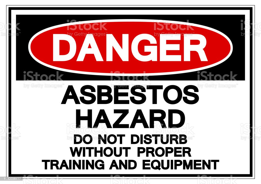 Danger Asbestos Hazard Symbol Sign, Vector Illustration, Isolated On White Background Label .EPS10 vector art illustration