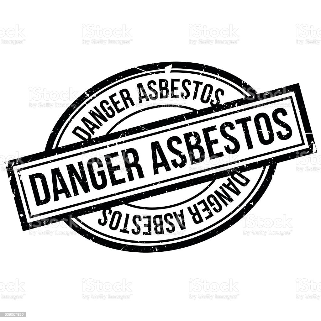 Danger Asbestos rubber stamp vector art illustration