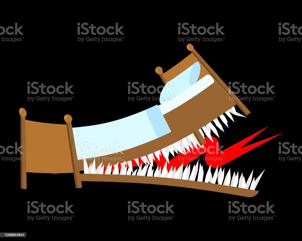 Avec Bouche Les Dentée De Lit Danger Dents Crocs Des qnwP6wEfW