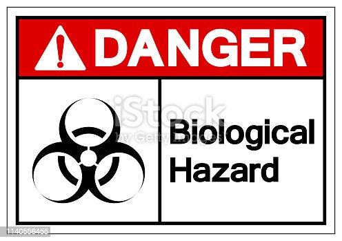 Danger  Biological Hazard Symbol Sign, Vector Illustration, Isolate On White Background Label. EPS10