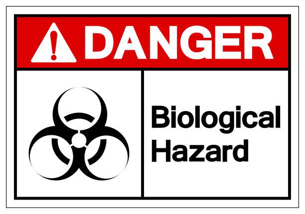 Danger  Biological Hazard Symbol Sign, Vector Illustration, Isolate On White Background Label. EPS10 Danger  Biological Hazard Symbol Sign, Vector Illustration, Isolate On White Background Label. EPS10 biohazard symbol stock illustrations