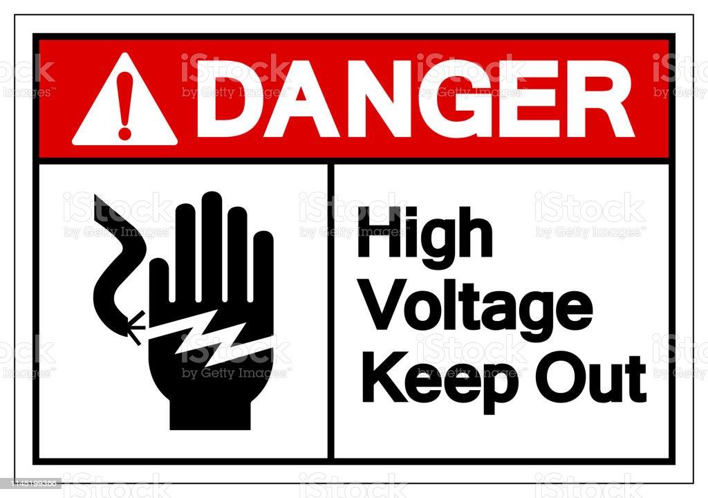 Danger Peligro High Voltage Keep Out Sign Sticker