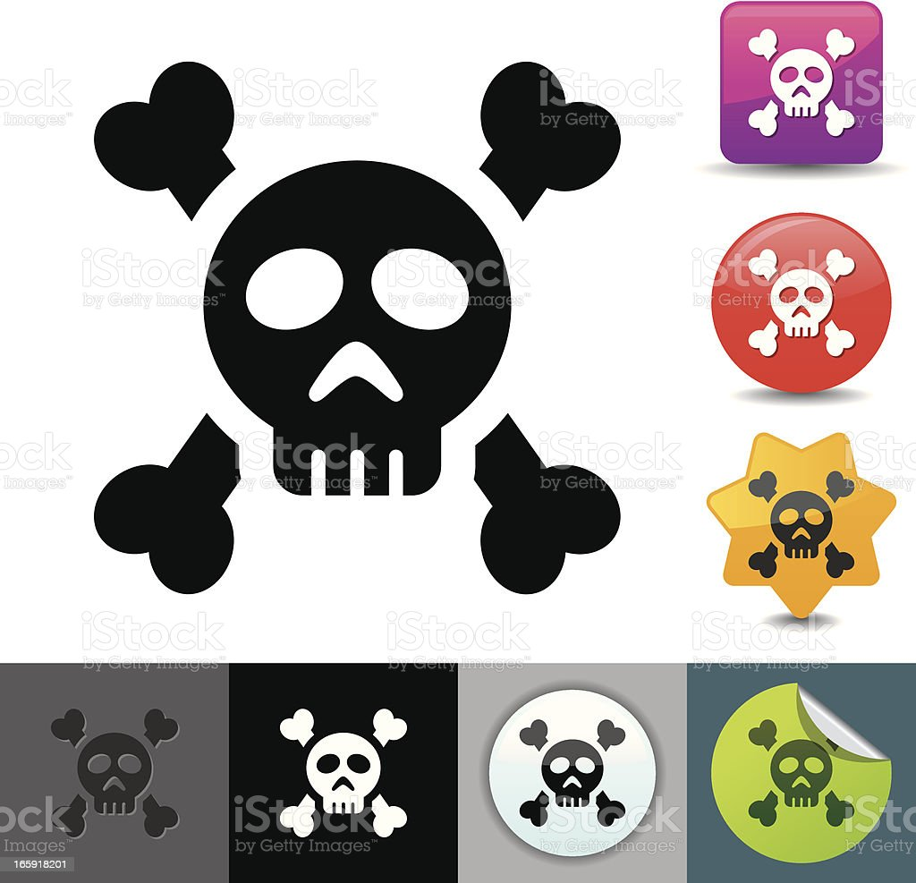 Danger icon | solicosi series royalty-free stock vector art