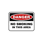 Danger No smoking Signage Illustration Design. Vector EPS 10.