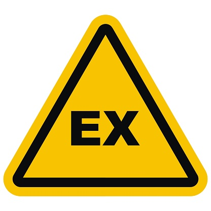 danger of explosion, EX icon, vector industrial sign