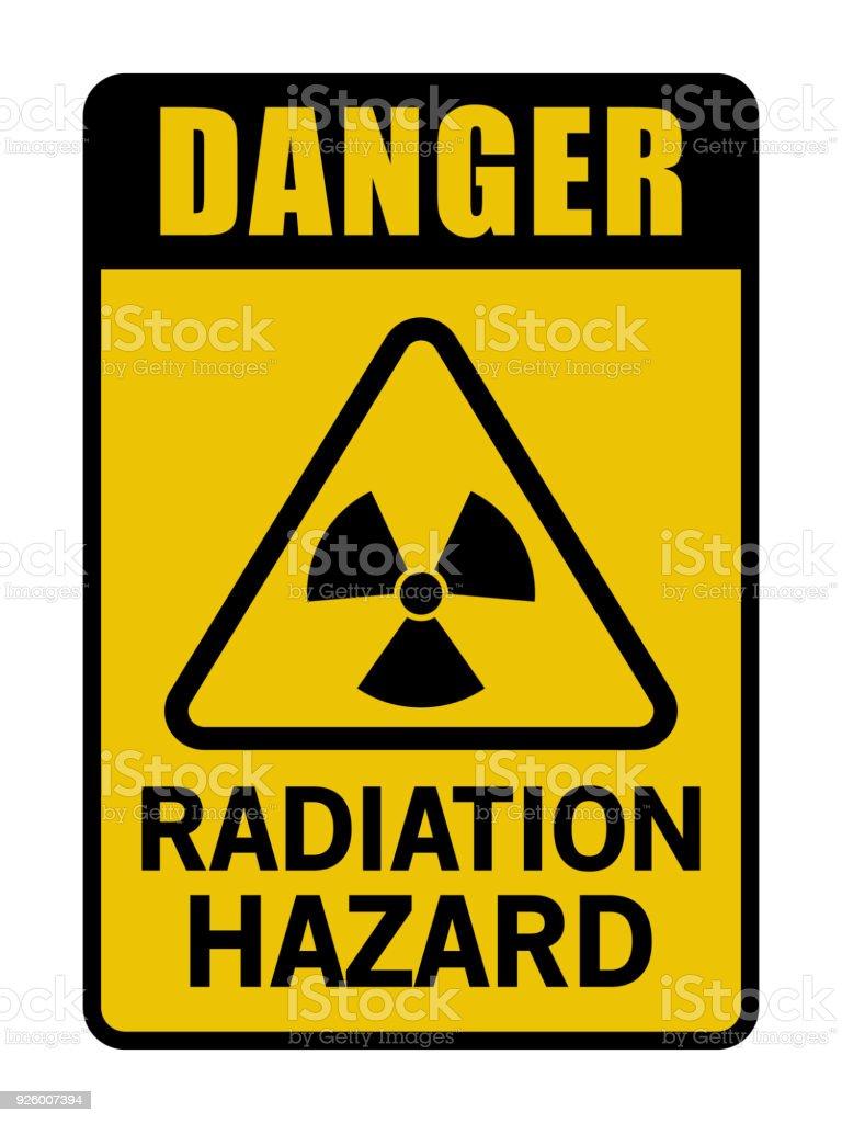 Danger Radiation Hazard Caution Sign vector art illustration