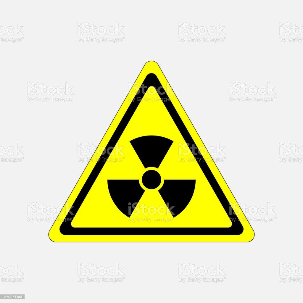 danger sign radiation, symbol threat vector art illustration