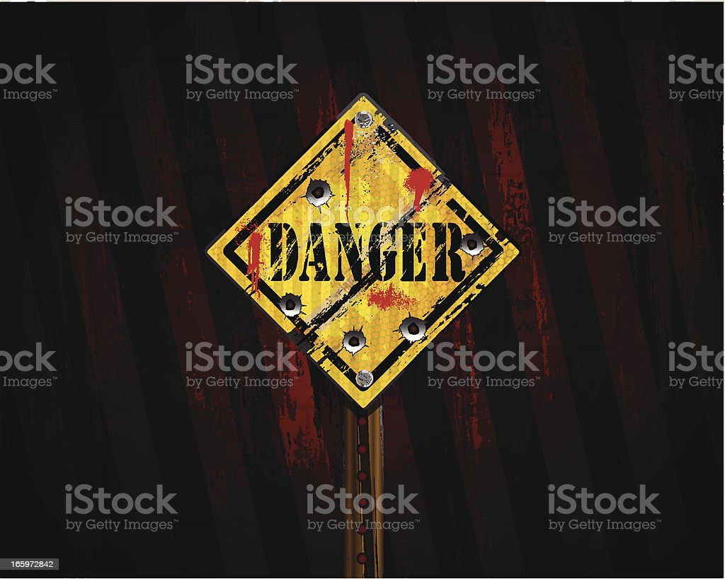Danger Sign   Urban Grunge Background royalty-free stock vector art