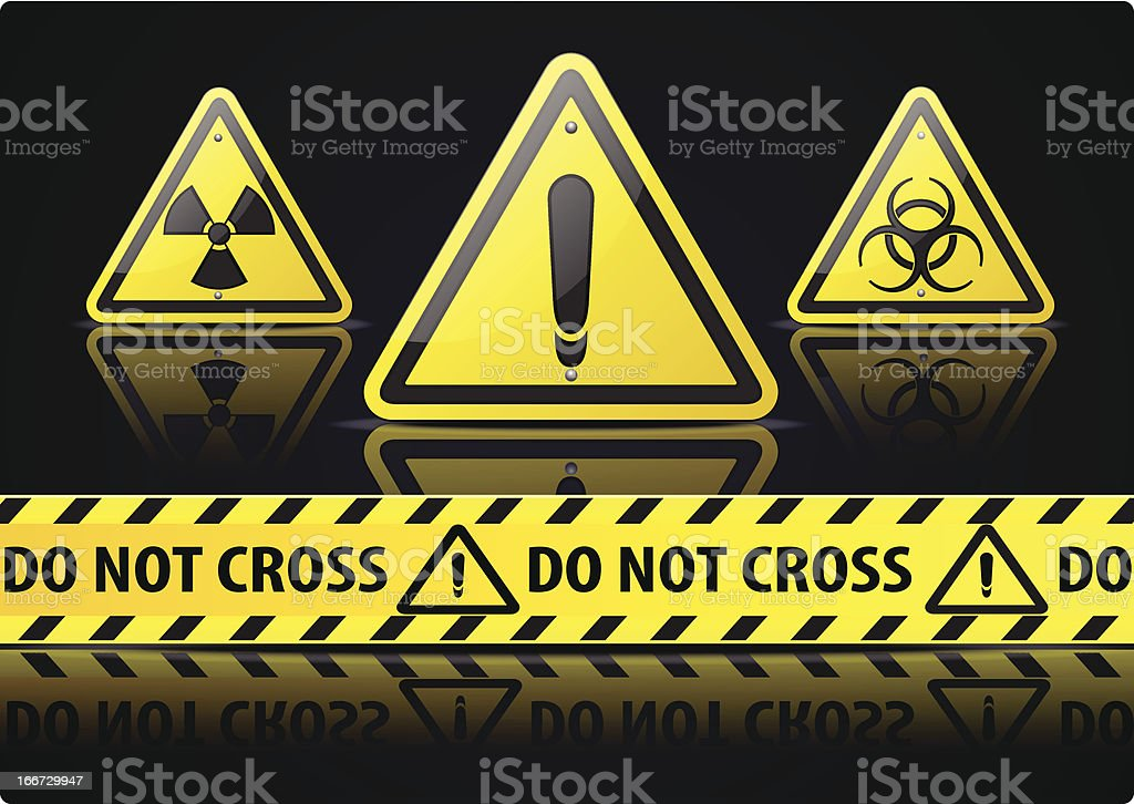 Danger Sign royalty-free stock vector art