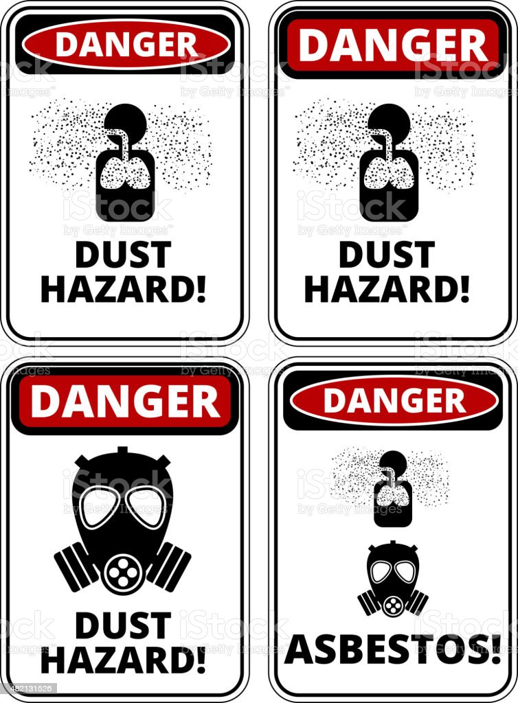Danger sign vector art illustration