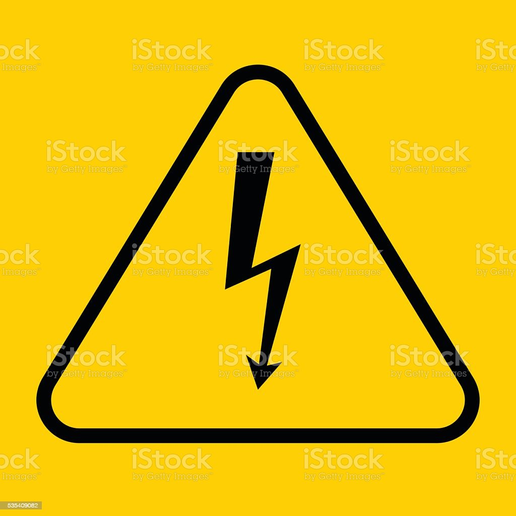 Danger sign with frame vector illustration of high voltage symbol danger sign with frame vector illustration of high voltage symbol royalty free stock vector buycottarizona