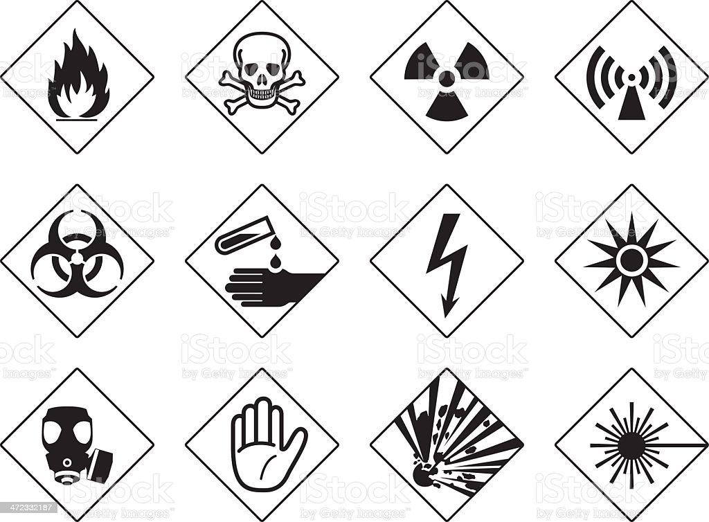 Danger Symbols Stock Vector Art More Images Of Acid 472332187 Istock