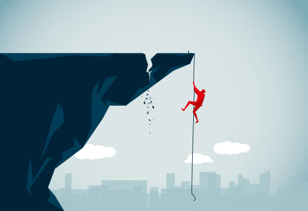 danger - rock climbing stock illustrations, clip art, cartoons, & icons