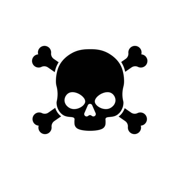 Danger vector sign illustration isolated on white background Danger vector sign illustration isolated on white background poisonous stock illustrations