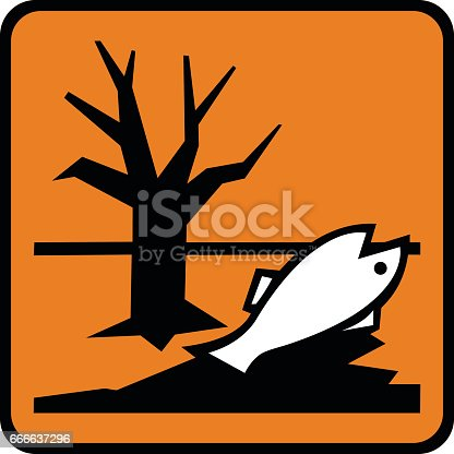 Dangerous For The Environment Sign Or Symbol Stock Vector Art More