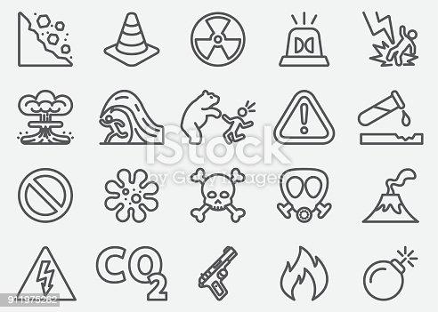 Dangerous Line Icons