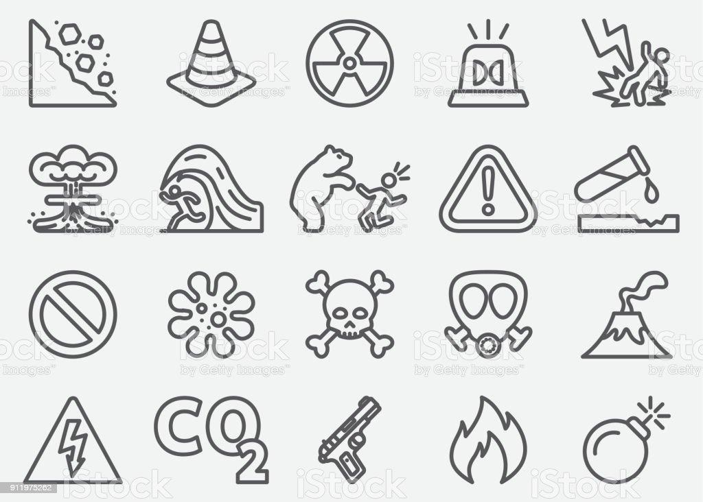 Gefährliche Grenze Icons – Vektorgrafik