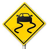 istock Dangerous Road Warning Sign 891856370