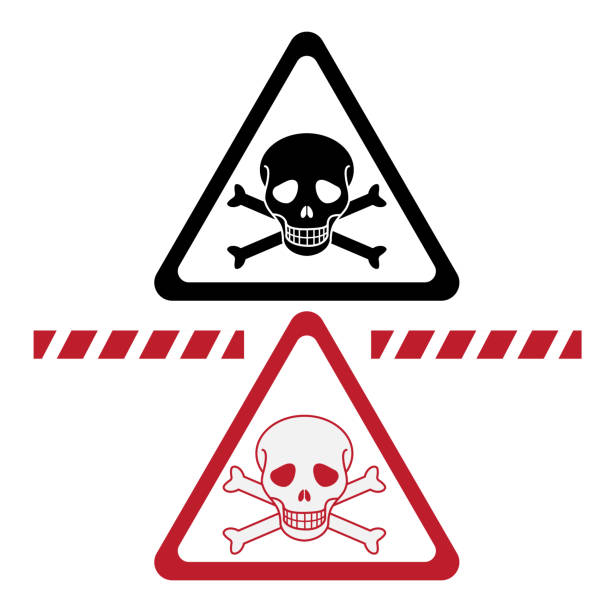 illustrazioni stock, clip art, cartoni animati e icone di tendenza di dangerous - deadly sings