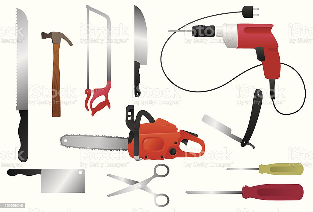 Dangerous working tools royalty-free dangerous working tools stock vector art & more images of blade
