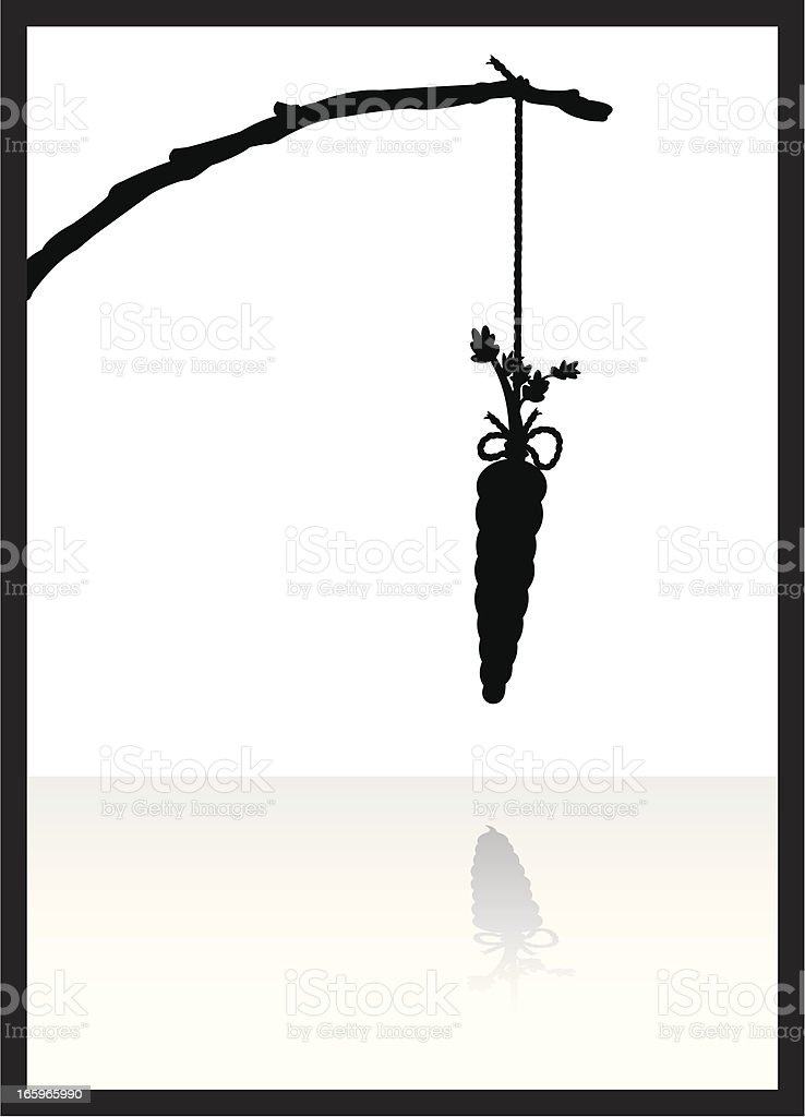 Dangling Carrot on a Stick - Promise royalty-free stock vector art