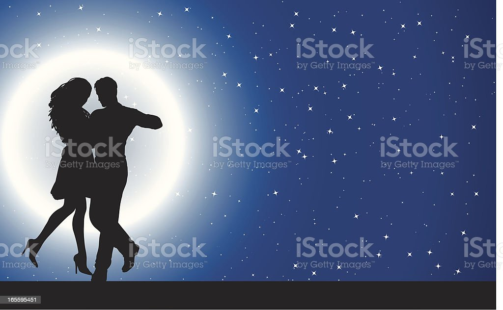 Daning in the Moonlight royalty-free daning in the moonlight stock vector art & more images of adult