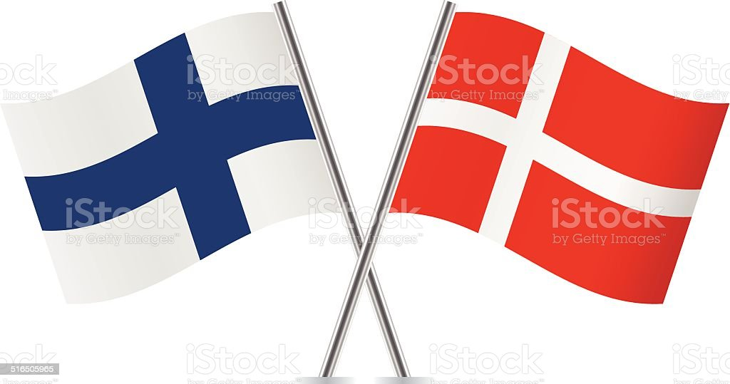 Danish And Finnish Flags Vector Stock Vector Art More Images Of - Denmark flags