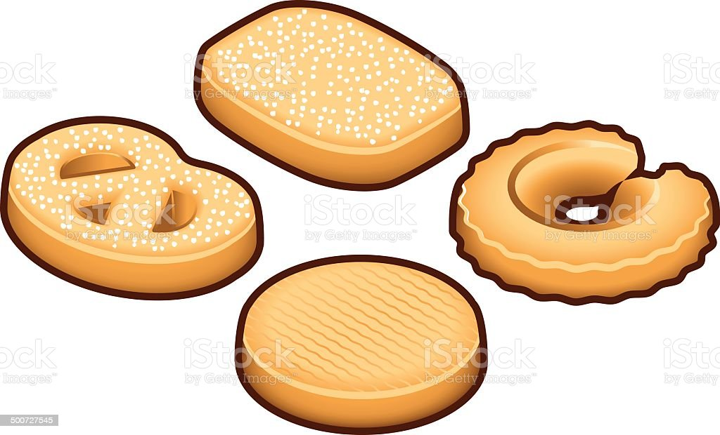 Danish Cookies vector art illustration