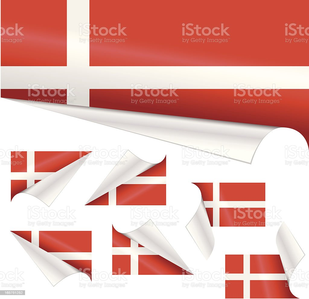 Danish Flags behind Curled Paper royalty-free danish flags behind curled paper stock vector art & more images of clipping path