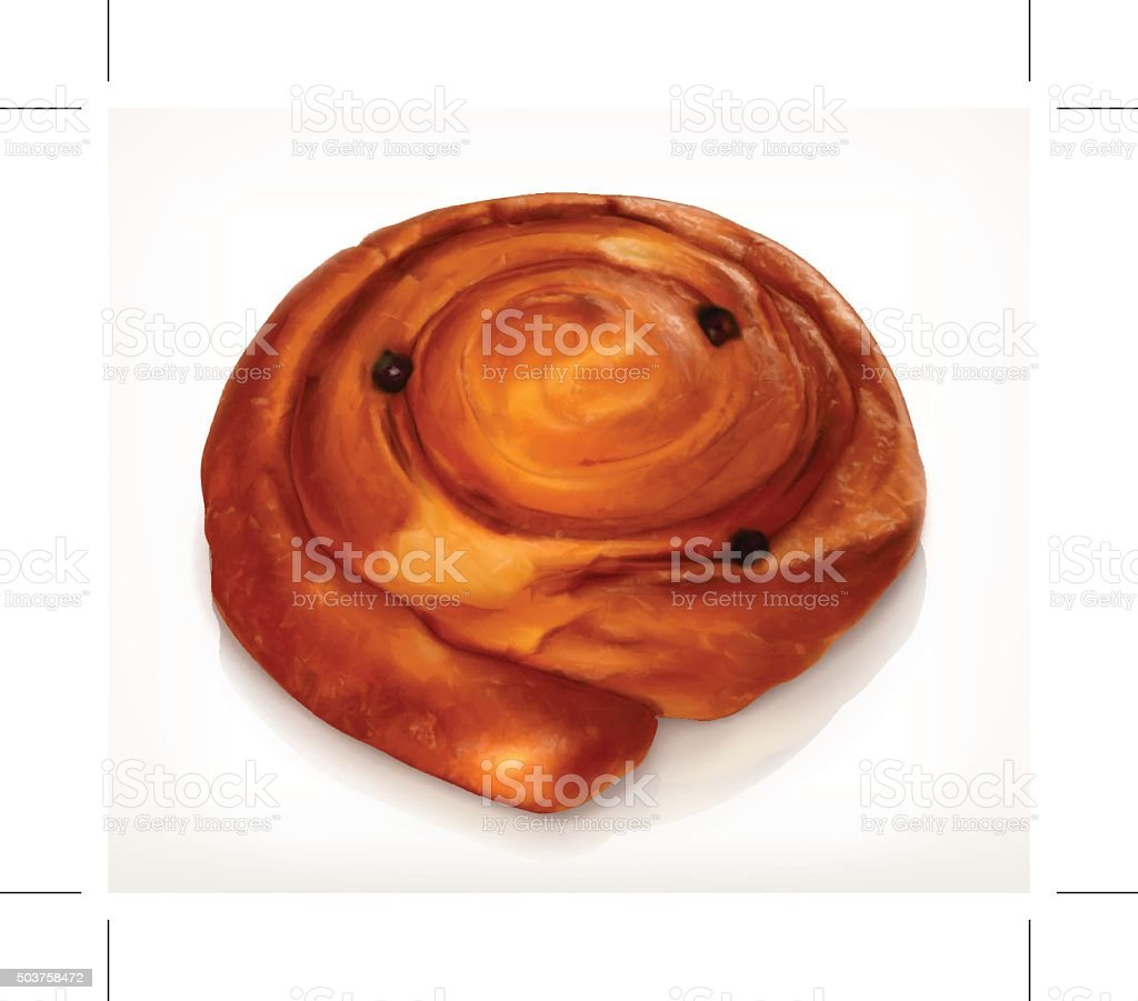 Danish pastry, bakery vector icon vector art illustration