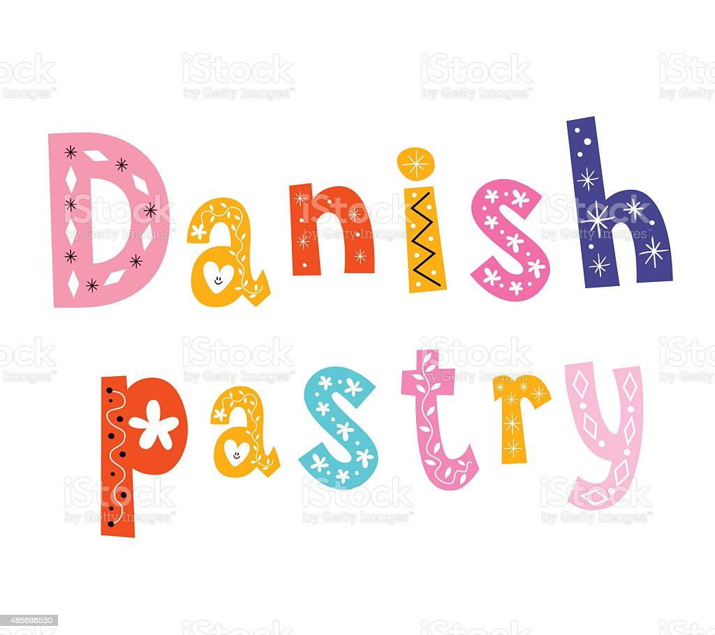 Danish pastry vector art illustration