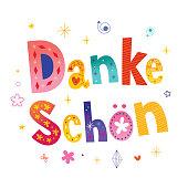 Danke schon Thank you very much in German