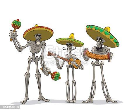istock Danse Macabre. Mexican musicians. 454944319