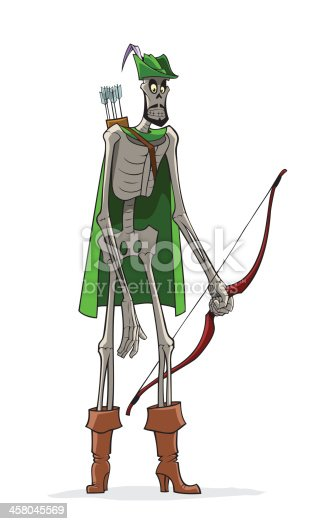Danse Macabre. Robin Hood in Lincoln green clothes.