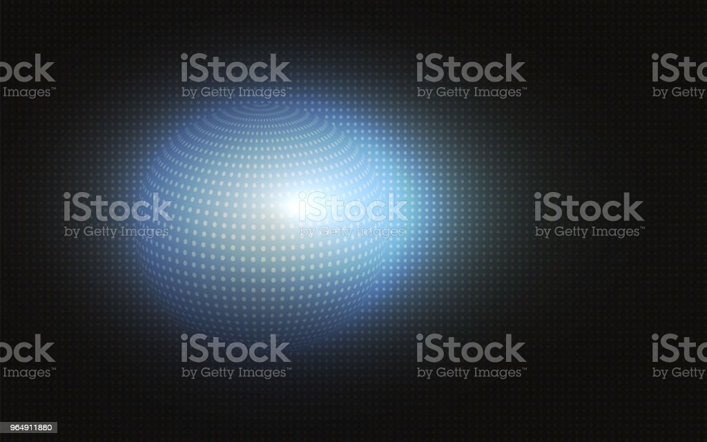Dark abstract background with a silhouette of a sphere royalty-free dark abstract background with a silhouette of a sphere stock vector art & more images of abstract
