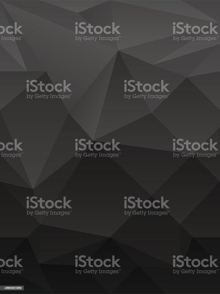 dark abstract polygonal background vector art illustration