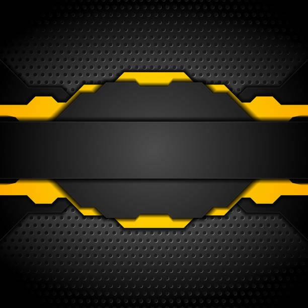 Dark abstract technology background vector art illustration