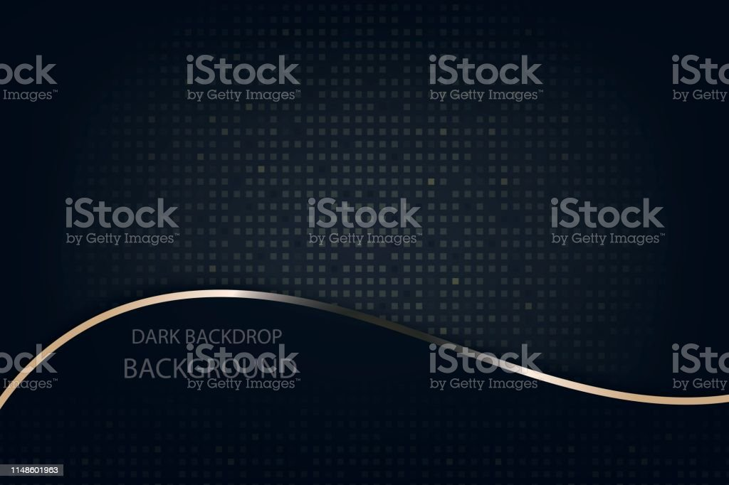Dark Abstract Wallpaper With Gold Glitter With Black Background Stock Illustration Download Image Now Istock