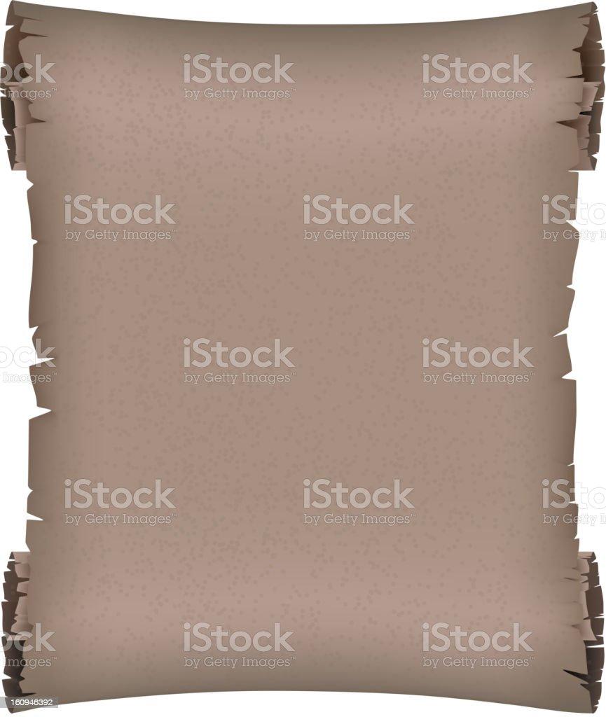 Dark ancient scroll royalty-free stock vector art