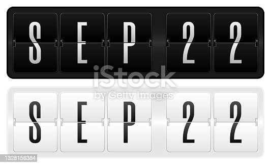 istock Dark and light calendar theme- 22 September 1328156384