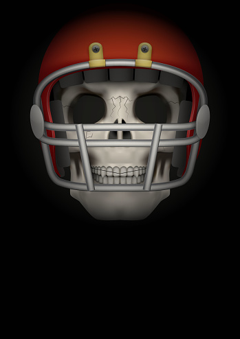 Dark Background of american football. Vector Illustration