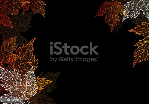 Vector illustration of an autumn leaves background. High resolution jpg file included.
