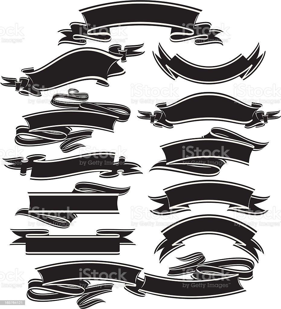 Dark Banners royalty-free stock vector art
