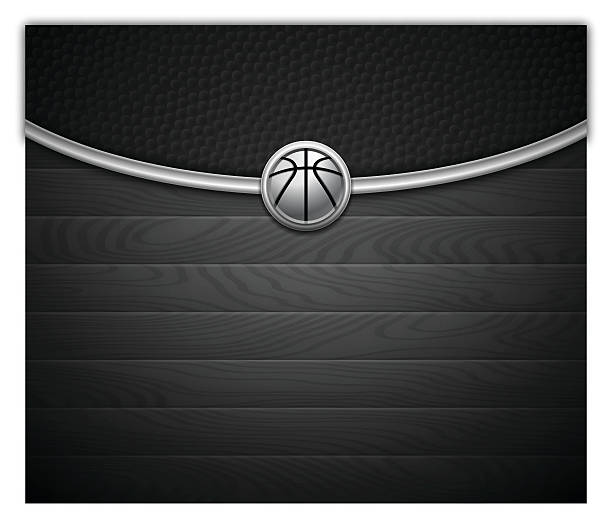 Dark Basketball Background vector art illustration